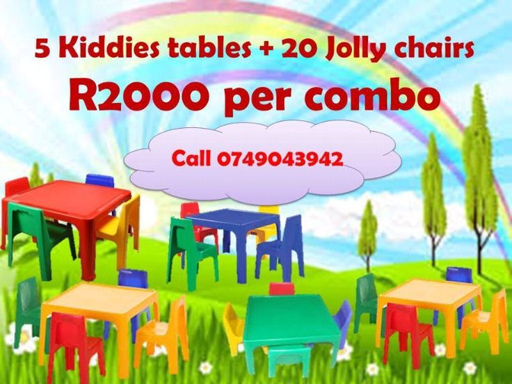 Kids table and chair combo