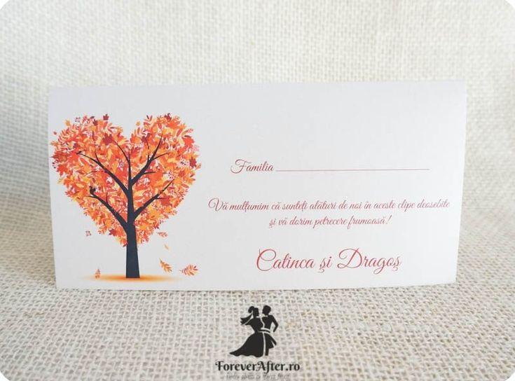 Plic de bani cu copac in forma de inimioara potrivit pentru nunti de toamna | ForeverAfter.ro