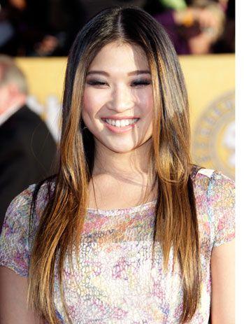 Jenna Ushkowitz Tina From Glee Asian Ombre Hair