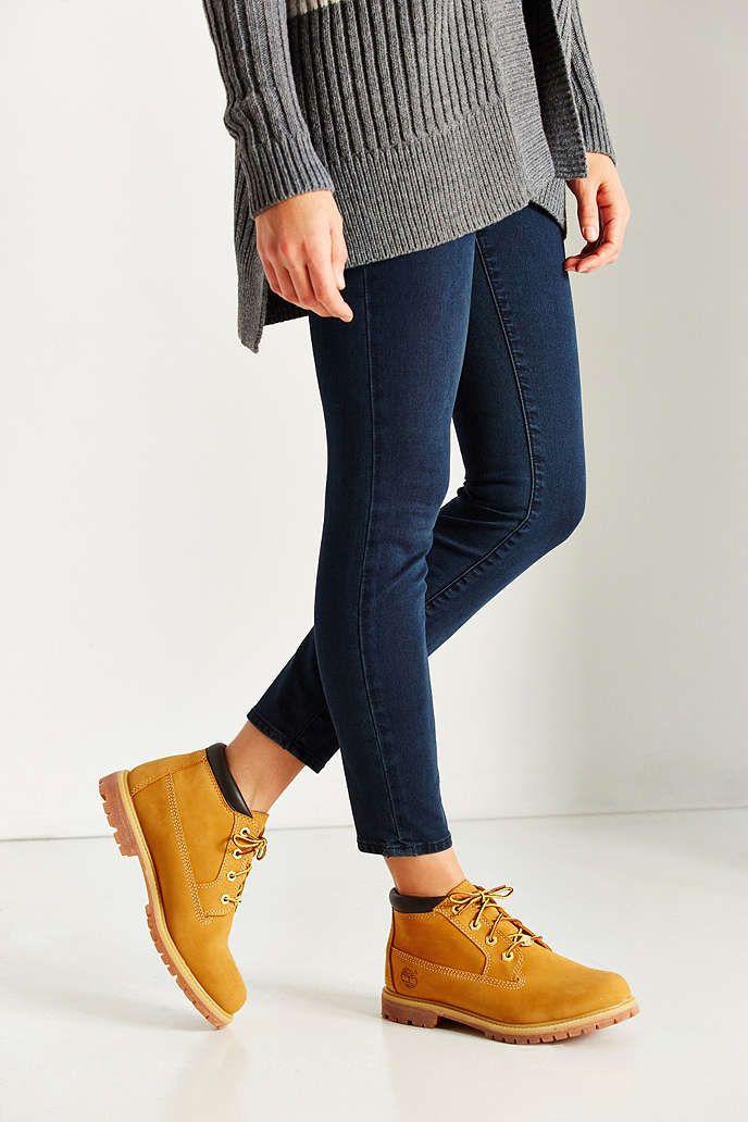 nice Модные женские ботинки Тимберленды — С чем носить зимой и летом ... 9004c47f869