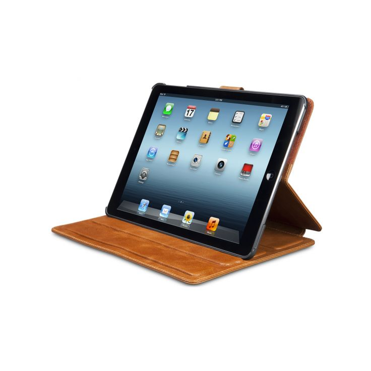 """Great cover for the iPad Air, """"Copenhagen"""" is the model name, Golden Tan is the leather.  Use the code """"Hvidberg25db1928"""" on the webshop to get your 25% off all products!"""