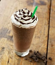 Double Chocolaty Chip Frappuccino::  Recipe::      1 cup of milk (whole, reduced fat, or skim. For a special treat, add coconut milk)      2 tablespoons of sugar      1/3 cup chocolate chips (mmm... chocolate!)      3 tablespoons chocolate syrup (Hershey's will do)      2 cups of ice      1/8 teaspoon vanilla extract