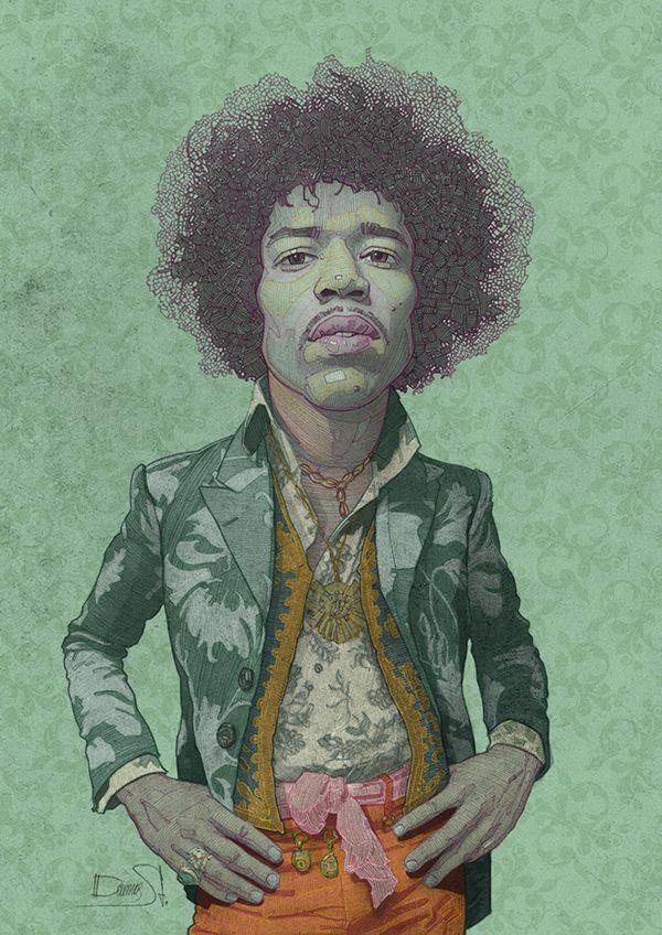The Legendary Jimi Hendrix on Behance