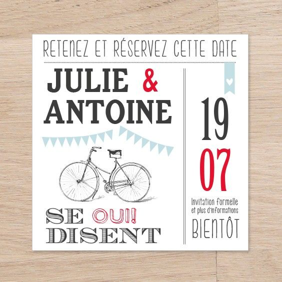 Save the date Guinguette - collection Guinguette - Mariage