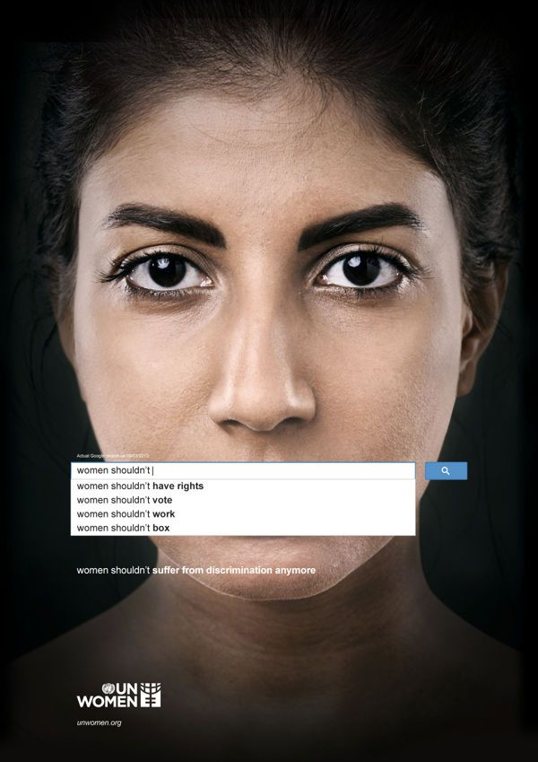 #greatads Very poignant gender inequality print Ad #malemarketing