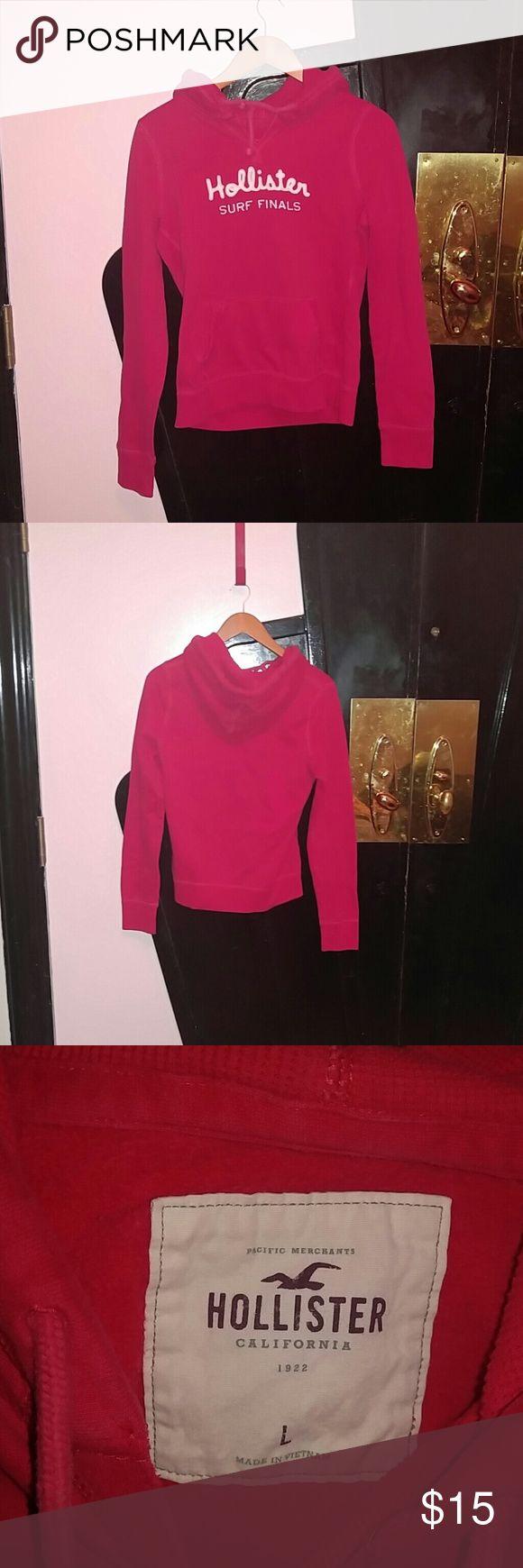 Hollister red woman's hoodie Woman's red Hollister hoodie in good condition Hollister Tops Sweatshirts & Hoodies