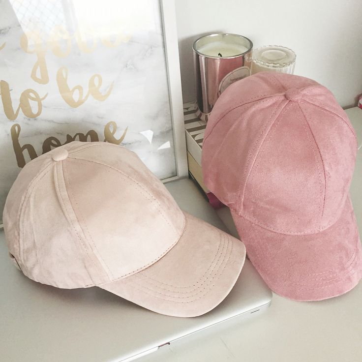 SUEDE CAPS // BLUSH PINK & PINK // SHOP NOW AT WWW.TEEANDING.COM