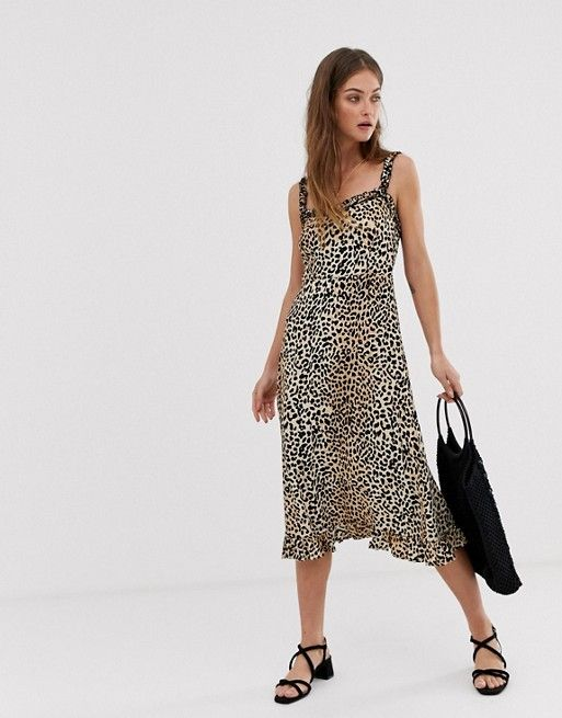 6f7bc2045494 Faithfull Noemie leopard midi dress in 2019 | ASOS | Dresses ...