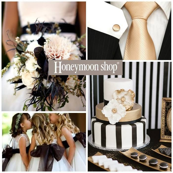 Black & Gold weding theme www.honeymoonshop.nl