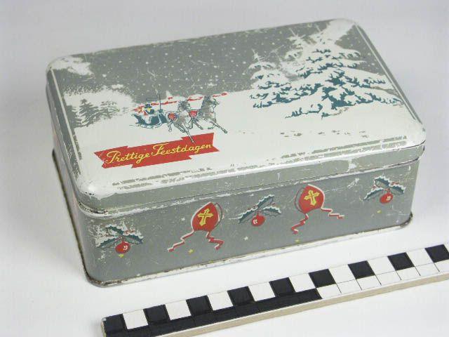 Trommel met kerst en sinterklaas decor
