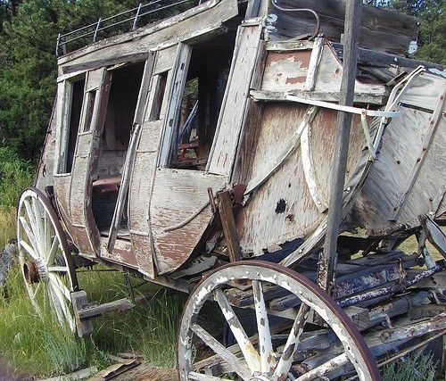 Ghost of a stage coach in Estes Park, Colorado.