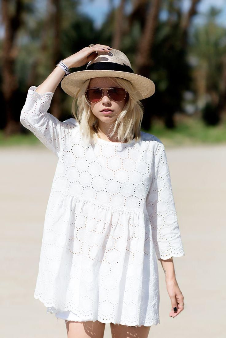 The little white dress is a sunshine staple//