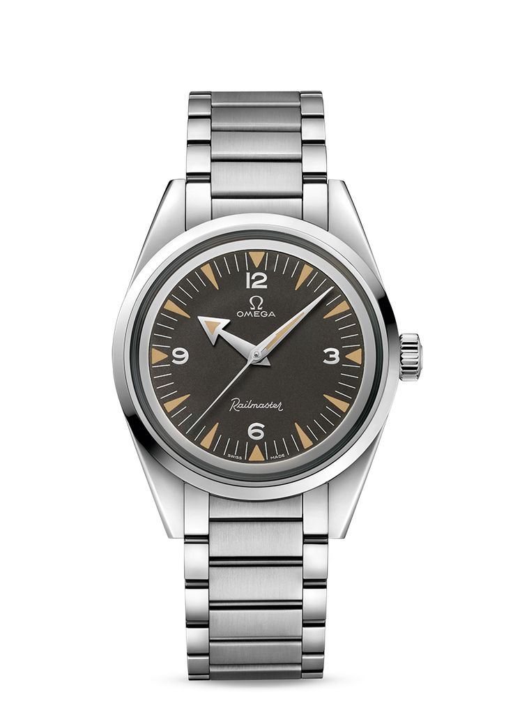 Omega Railmaster - Re-Edition. Part of THE OMEGA 1957 TRILOGY LIMITED EDITIONS presented at Baselworld 2017