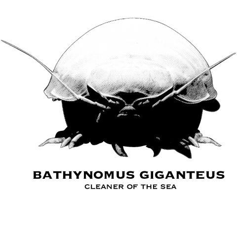 【海の掃除屋】ダイオウグソクムシ〜Bathynomus giganteus〜    鳥羽のダイオウグソクムシがインド最高褒章を受賞した。  鳥羽水族館で暮らしているダイオウグソクムシ「NO1」は2009年1月以降、絶食期間が1500日を超えたことで話題を呼び、今では水族館の人気者になっている。  見た目はダンゴムシ、ワラジムシに似ていて、よ〜くみるとまるで鎧をまとった未知の生物のようで  かなりかっこいい!ダイオウグソクムシは人気者になる要素を兼ね備えている!  そんなダイオウグソクムシをかっこよく着こなそう!!    ◆デザイン中の欧文文字の意味  Bathynomus giganteus  Cleaner of the sea  (ダイオウグソクムシ 海の掃除屋)