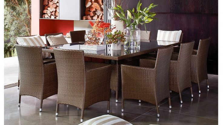 Pacific 11 Piece Outdoor Dining Setting - Outdoor Dining - Outdoor Living - Furniture, Outdoor & BBQs | Harvey Norman Australia