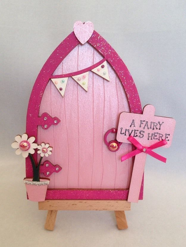 Magical Hand Painted Pink Fairy / Tooth Fairy Door in Collectables, Fantasy/ Myth/ Magic, Mythical Creatures | eBay