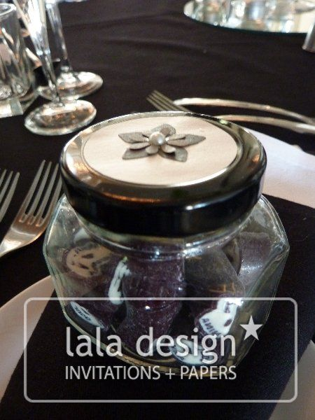 Flower lolly jar