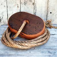 reclaimed wood handmade tree swing