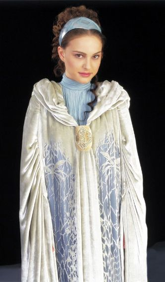 Padme Amidala, in a dress from a scene that was cut from the movie