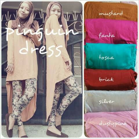 PINGUIN DRESS IDR 85 material : kaos rayon, fit XL  fast respon 0857 2930 2137 (sms/wa) asterikan (wechat/line)