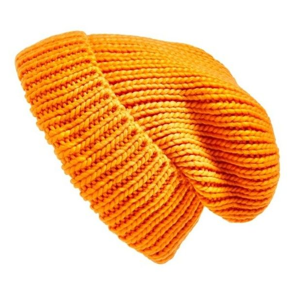 Women's Topshop Rib Knit Beanie ($21) ❤ liked on Polyvore featuring accessories, hats, beanies, headwear, orange, topshop beanie, topshop, orange beanie, beanie cap hat and ribbed knit beanie