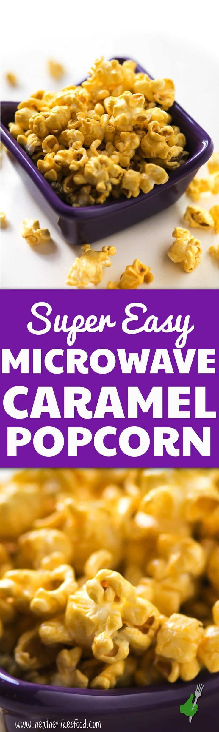 This is my absolute favorite way to make the easiest most fail-proof crunchy, sweet microwave caramel popcorn!