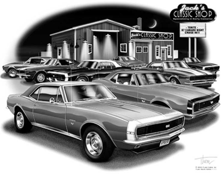 Best Car Art Images On Pinterest Automotive Art Chevy And