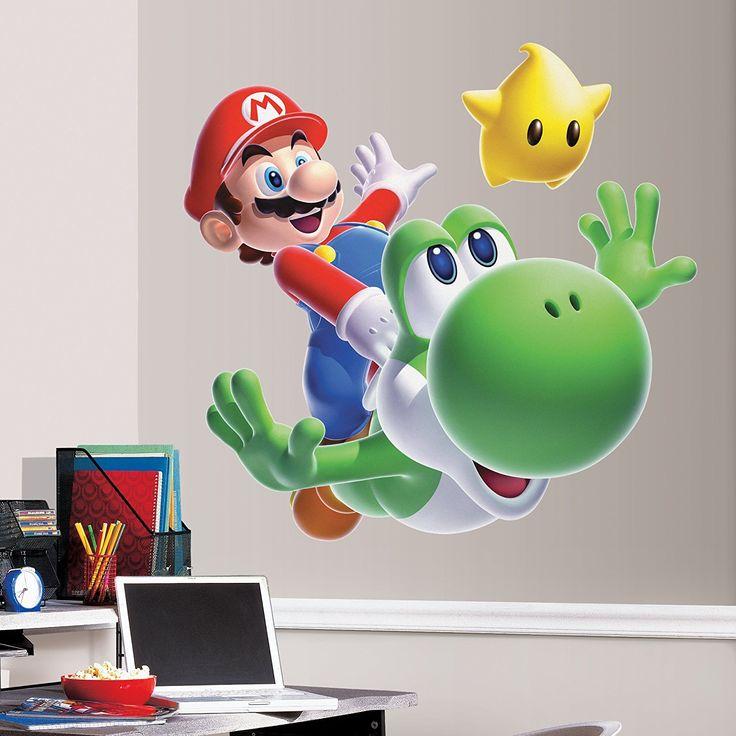 marvelous einfache dekoration und mobel super mario tapete #1: Wandtattoo | Wandsticker für Kinderzimmer Nintendo Super Mario Galaxy 2,  Mario und Yoshi