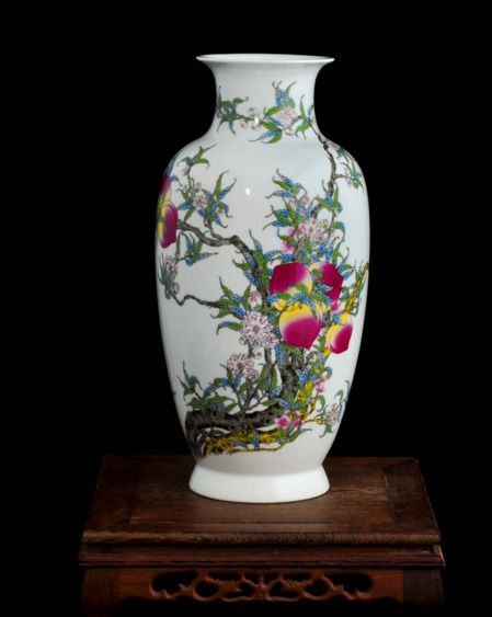chinese old jingdezhen WHITE chinaware sculpture Peach trees of vase | Antiques, Asian Antiques, China | eBay!