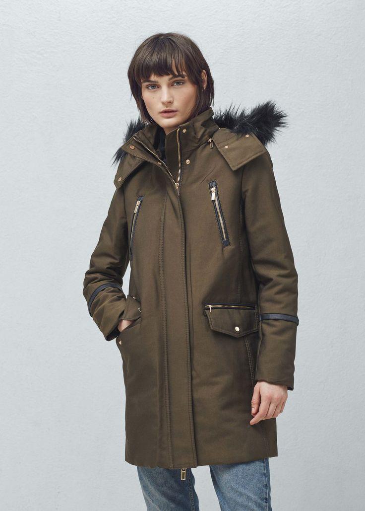 Cotton hooded coat -  Women | MANGO USA