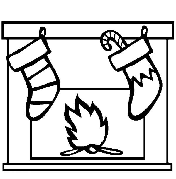 christmas stocking coloring pages pattern - photo#48