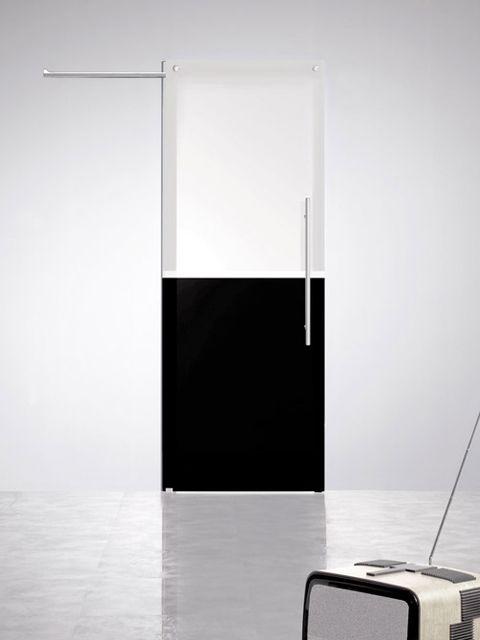 Puerta corredera de cristal Casali SystemZero Bicolor Black-White de Maydisa. www.maydisa.com