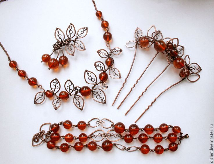 """Making jewelry from old beads """"Autumn leaves"""" - Fair Masters - handmade, handmade"""