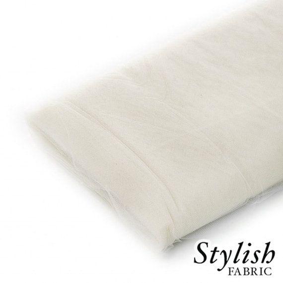 Ivory Tulle Fabric, Wedding Tulle Fabric, Wholesale Tulle, Tulle Party Decoration Fabric, Tulle Net Fabric -40 Yard Bolt- Style 2601