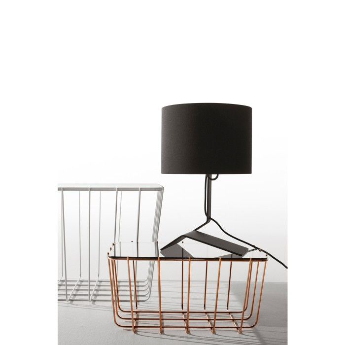 The bender table lamps bent steel base and linen shade offer a unique modern look perfect for bedside tables and desks unique lamp designed by blu dot