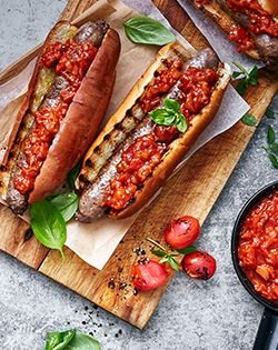CHAMPIONSHIP BOERIE ROLLS  WITH SMOKED TOMATO SAUCE - When we braai, we make everything on the braai – even the tomato sauce.