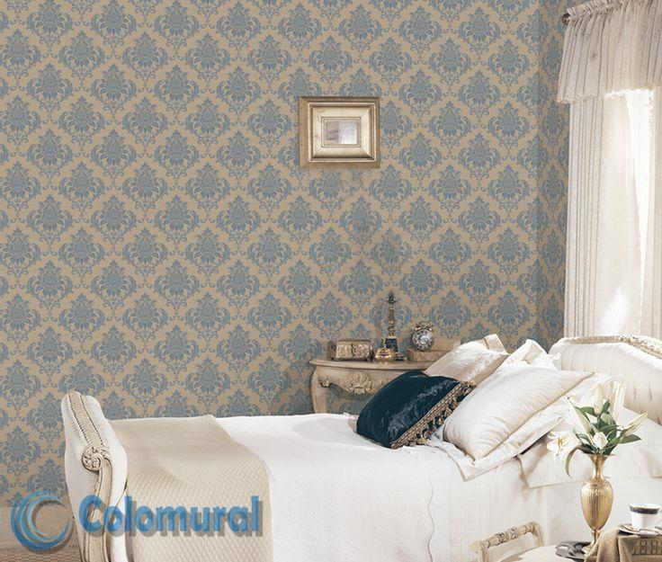 G34117 colomural vintage damasks pinterest papel pintado decoraci n de habitaciones y - Papel para cubrir paredes ...