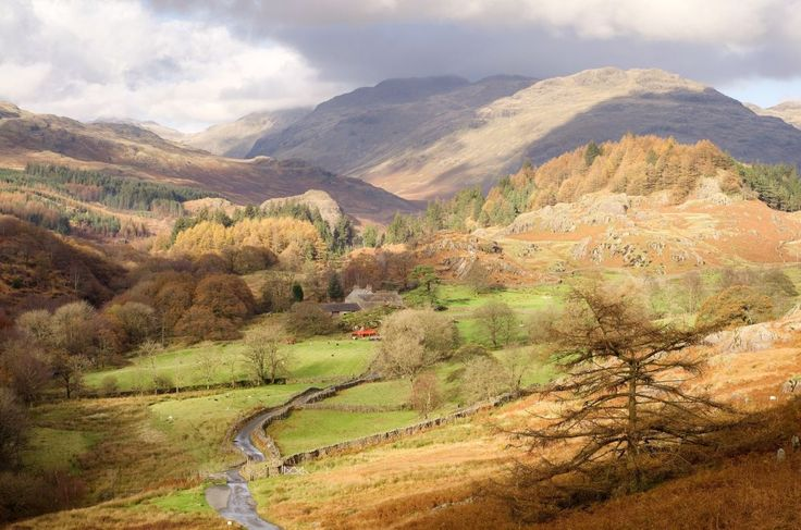 This photograph shows a view of the Duddon Valley in the English Lake District