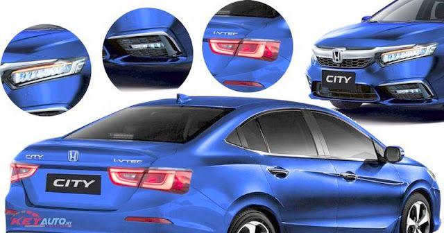 2020 Honda City Exterior Design Render Global Debut Next Month Honda City Honda New Honda