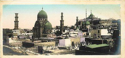 Cairo Egypt 1908 Aerial View Mamelouks Tombs Real Photo Antique Vintage Postcard                                                                                                                                                                                 More