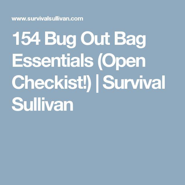 154 Bug Out Bag Essentials (Open Checkist!) | Survival Sullivan