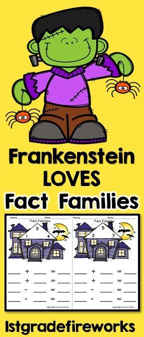 Halloween themed FACT FAMILY BOOKLETS.Fact Family - Booklet style Cover, guided practice pages, independent practice pages Halloween Themed Available in Color & B/W