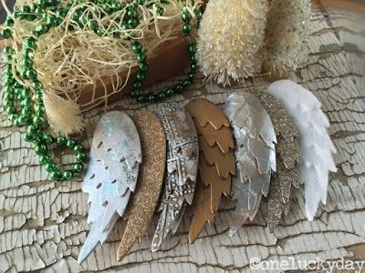 One Lucky Day: Christmas Inspiration: Feathered Wings. Paula shows numerous ways of making these wings look different. A great process post.