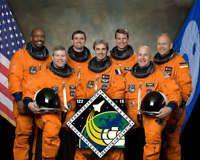 SPACE SHUTTLE ATLANTIS CREW STS-122 NASA 8x10 PHOTO