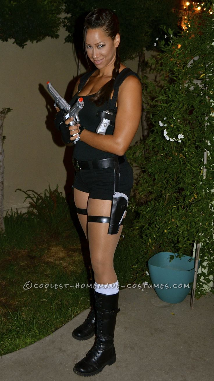 Sexy Homemade Lara Croft Costume... This website is the Pinterest of costumes
