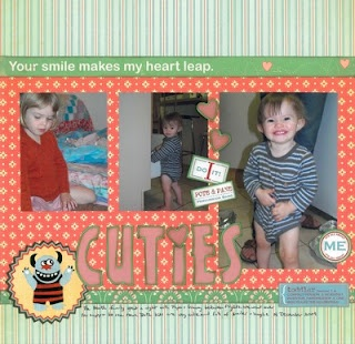 2009-12-14 Cuties  Layout for Scrapbook Challenges SCSS#11