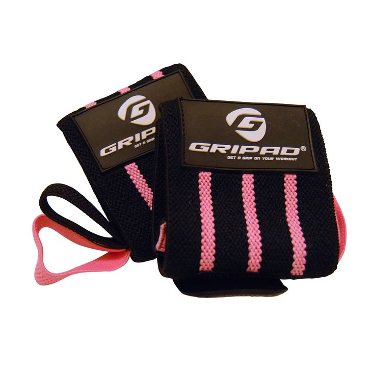 Pink Wrist Wraps for Women & Weight Lifting Wrist Wraps