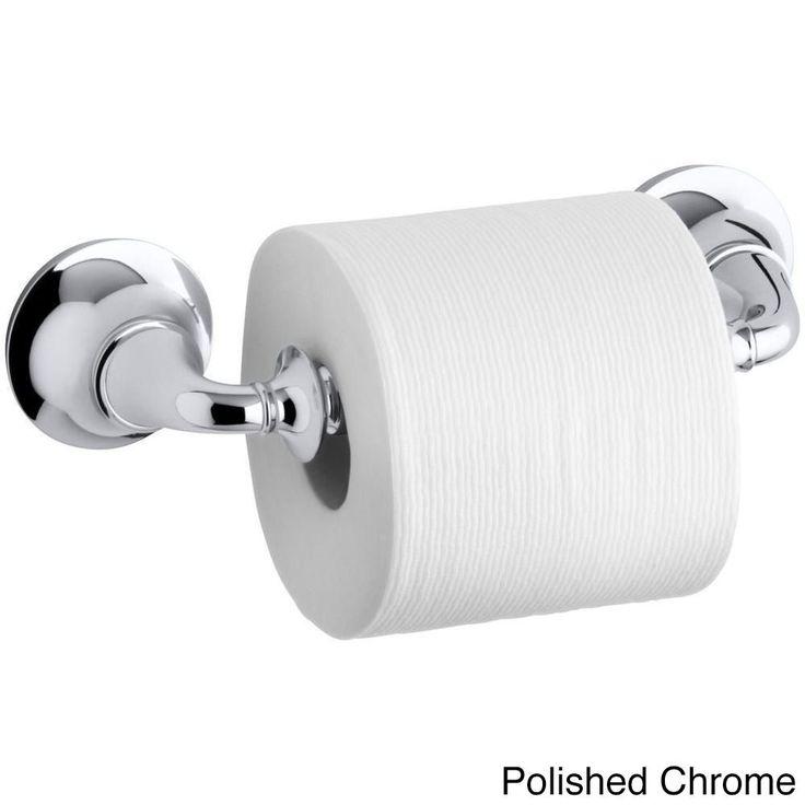 Kohler Forte Traditional Wall-mount Toilet Paper Holder (Polished chrome (Grey), double)