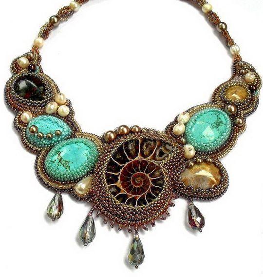 Beautiful jewelry with ammonite fossils   Beads Magic