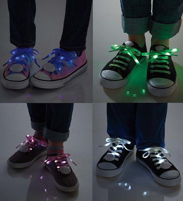 LED shoelaces to brighten up your footwear.